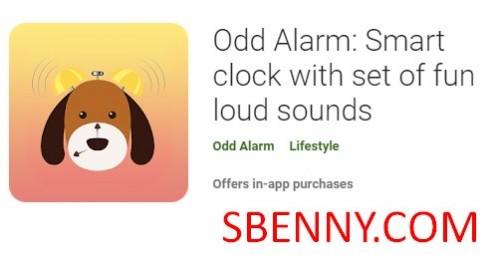 Alarma impar: reloj inteligente con un conjunto de divertidos sonidos fuertes + MOD