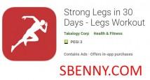 Piernas fuertes en 30 Days - Entrenamiento de piernas + MOD
