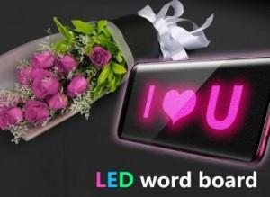 LED Word Board - Panneau d'affichage avec défilement de chapiteau + MOD