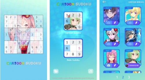 Sudoku: dibujos animados