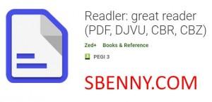 Readler: qarrej kbir (PDF, DJVU, CBR, CBZ)