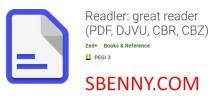 Readler: ótimo leitor (PDF, DJVU, CBR, CBZ)