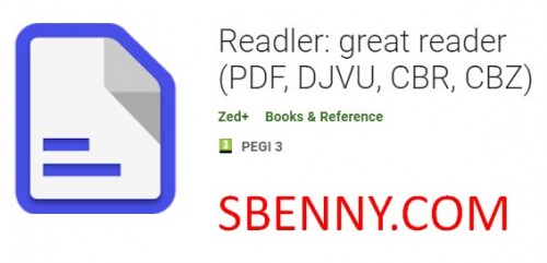 Readler: great reader (PDF, DJVU, CBR, CBZ)