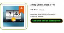 3D Flip Clock & amp; Tiempo Pro