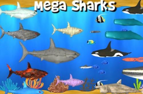 Mega Sharks Pro: Giochi di squali + MOD