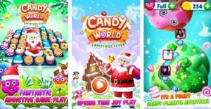 Christmas Candy World - Juego de Santa's Match 3 + MOD
