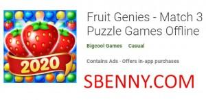 Fruit Genies - Match 3 بازی پازل آفلاین + MOD