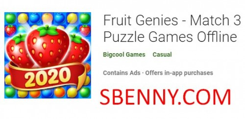 Fruit Genies - Match 3 Puzzle Games Offline + MOD