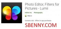 사진 편집기, 사진 필터-Lumii + MOD