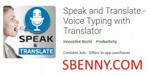 Speak and Translate - Saisie vocale avec Translator + MOD