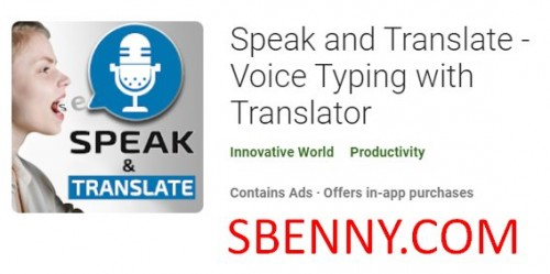 Speak and Translate - Voice Typing with Translator + MOD