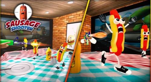 Salsicha Shooter Gun Game - Jogos de Tiro para Free + MOD