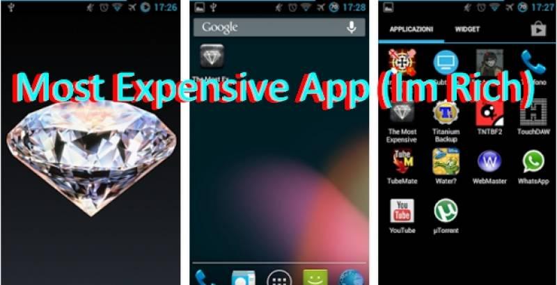 La aplicación más cara (Im Rich $)