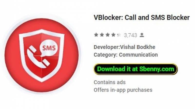 VBlocker: bloqueador de llamadas y SMS + MOD