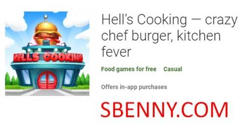 Hell's Cooking - hamburguesa de chef loca, fiebre de la cocina + MOD