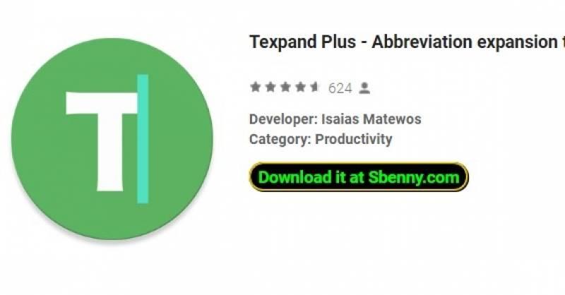 Texpand Plus - abreviação de expansão do auxílio de digitação