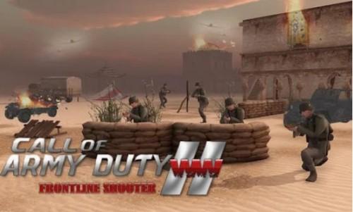 Sejħa tad-Dazju tal-Armata WW2: Frontline Shooter + MOD