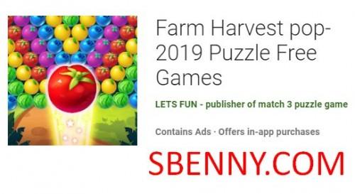 Farm Harvest pop- 2019 Free Games + MOD