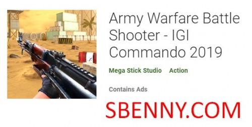 Army Warfare Battle Shooter - Commando IGI 2019 + MOD