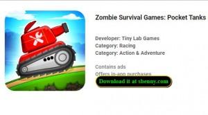 Игры с выживанием зомби: карманные танки Battle + MOD