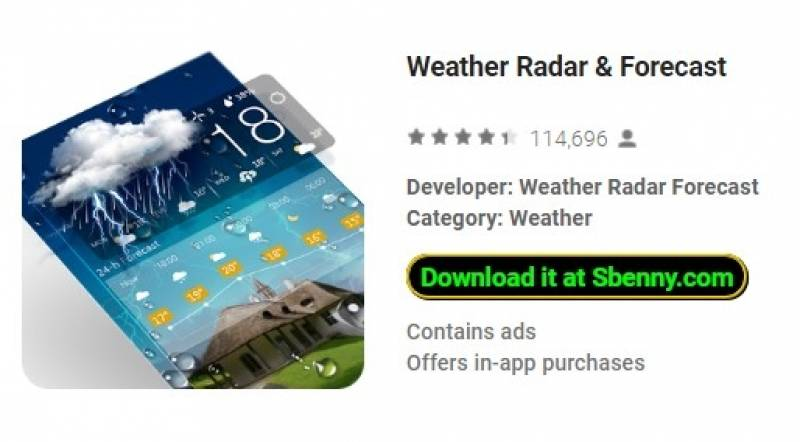 Weather Radar & amp; Прогноз + MOD