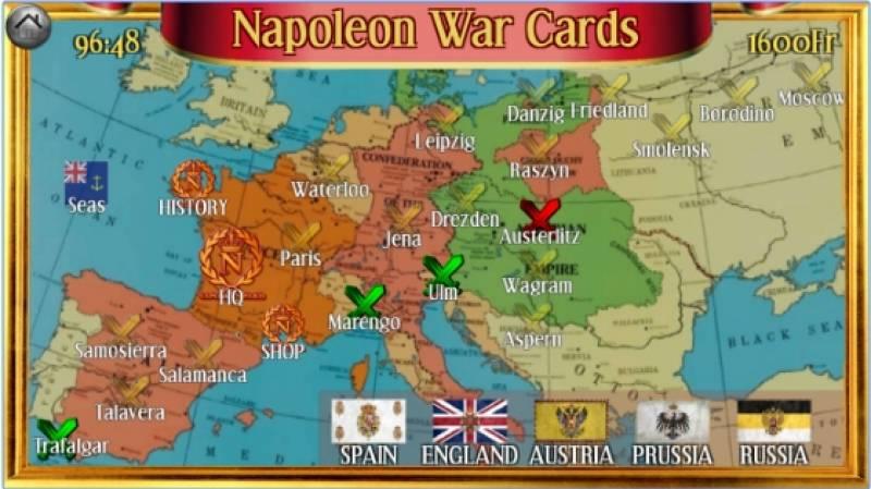 Napoleón Tarjetas de Guerra