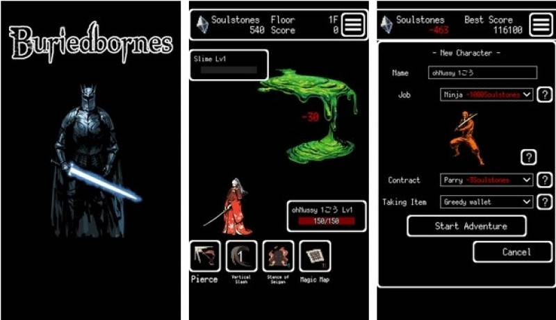 Buriedbornes -Hardcore RPG- + MOD