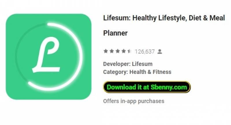 Lifesum: estilo de vida saudável, dieta e amp; Planejador de refeições + MOD
