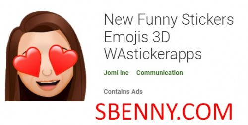 Stikers Divertenti Ġodda Emojis 3D WAstickerapps + MOD