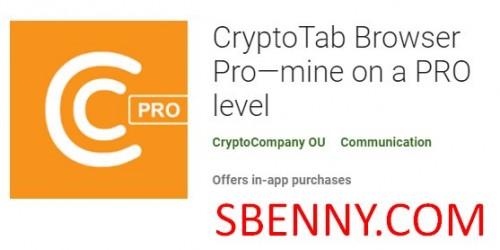 CryptoTab Browser Pro - در سطح PRO + MOD
