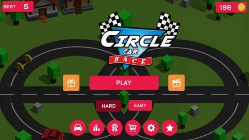 Circle Car Race: Infinite Loop Highway Racing + MOD