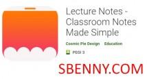 Vorlesungsnotizen - Schulungsnotizen leicht gemacht