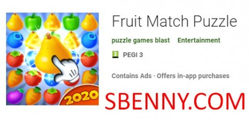Puzzle de match de fruits + MOD