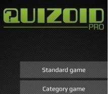 Quizoid Pro: Categoria Trivia
