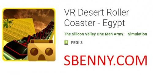 Montanha russa do deserto de VR - Egito