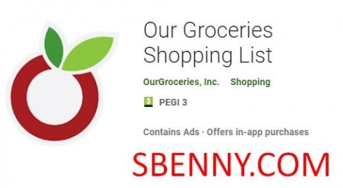 لیست خرید مواد غذایی + MOD