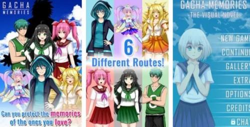 Gacha Memories - Anime Visual Novel + MOD