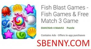 Fish Blast Games - Fischspiele & amp; Free Match 3 Game + MOD