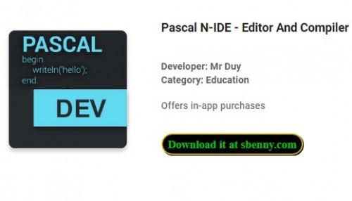 Pascal N-IDE - Éditeur et compilateur - Programmation + MOD