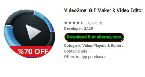 Video2me: GIF Maker & amp; Editor de Vídeo + MOD