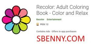 Recolor: Libro de colorear para adultos - Color and Relax + MOD