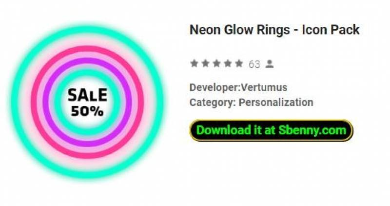 Neon Glow Rings Icon Pack Apk Android Free Download