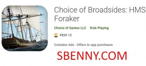 Broadsides의 선택 : HMS Foraker + MOD