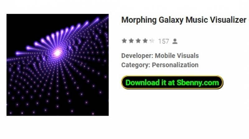 Morphing Galaxy Music Visualizer - Premium-Version