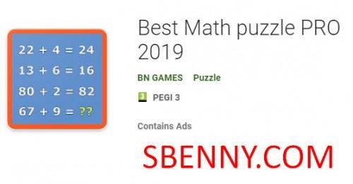 Bestes Mathe-Puzzle PRO 2019