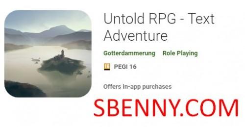 RPG no contado - Text Adventure + MOD