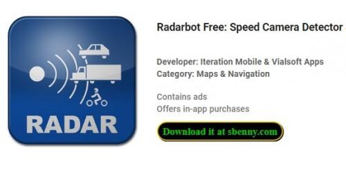 Radarbot Free: Détecteur de caméra de vitesse & amp; Compteur de vitesse + MOD