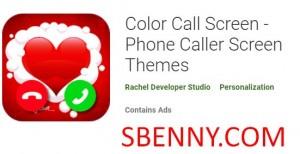 Цветной экран вызова - Темы экрана телефона + мод