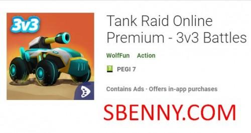 Tank Raid Online Premium - 3v3 Batallas