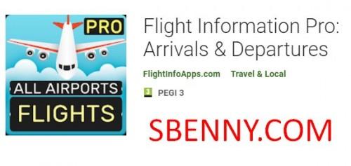 Flight Information Pro: Llegadas y salidas